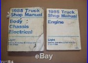 1985 Ford F150 F250 Bronco Econoline shop service repair manual with electrical