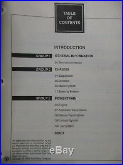 1999 FORD MUSTANG SERVICE SHOP REPAIR MANUAL SET With WIRING DIAGRAMS & INSPECTION