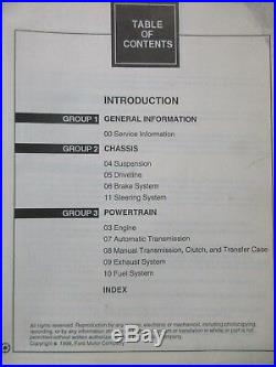 2000 FORD MUSTANG SERVICE SHOP REPAIR MANUAL SET With WIRING DIAGRAMS & SPECS