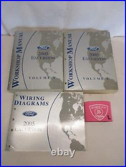 2005 Ford Excursion Service Shop Repair Manual Set With Wiring Diagrams