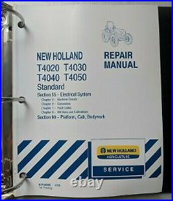 2008 New Holland T4020, T4030, T4040, T4050 Tractor Service Repair Manual