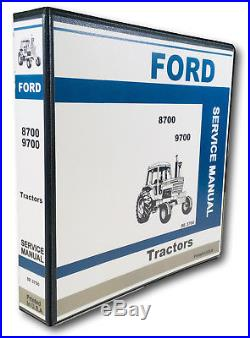 Ford 8700 9700 Tractor Service Repair Manual Technical Shop Book Overhaul