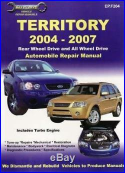 NEW Ford Territory Automotive Repair Manual. By Paperback Book Free Shipping