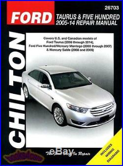 Shop Manual 500 Five Hundred Service Repair Ford Book Chilton Haynes